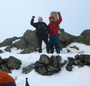 Frank and Alan at The top of the Buck